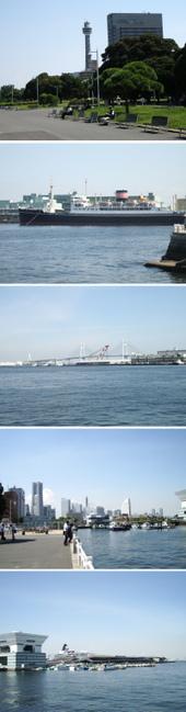横浜の港の風景