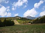 スキー場と赤岳